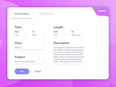 Add New Schedule Pop Up dashboard design user experience user interface web app web design dashboard ux ui app