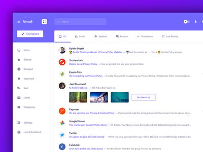Freebie-Gmail Redesign Adobe Xd app design web design user experience user interface web app gmail redesign ux ui