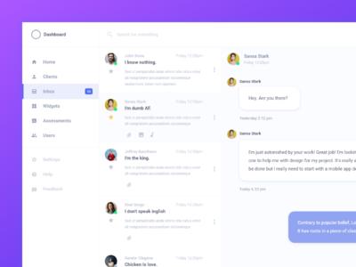 Client Inbox Design (Adobe XD) web app ui inbox design adobe xd ux ui user experience user interface