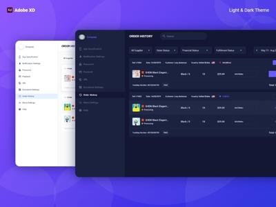 Dashboard UI Design With Adobe XD (Light & Dark)