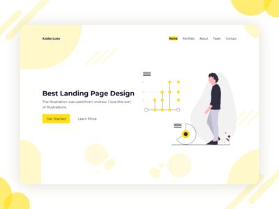 Landing Page Design landing page concept homepage landing modern ui landing page ui design landing page adobe xd uiux web web design user experience ux user interface ui