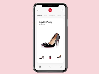 High Heels Online Shopping iphone ui ux ios invision color gesture interaction animation online heels high shop shoe
