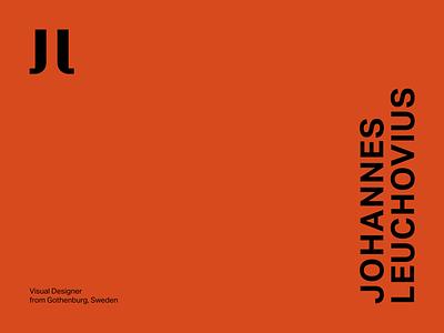 Johannes Leuchovius Visual Identity 001 logotypedesign visual design minimal logotype design logotype brand design brand visual identity brand identity sweden branding logo typography minimalistic