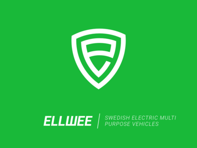Branding for Ellwee vehicle green logo minimalistic electric swedish design branding