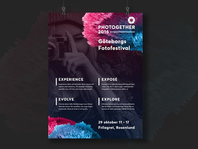 Photogether poster grid photogether landing page web typography festival photo