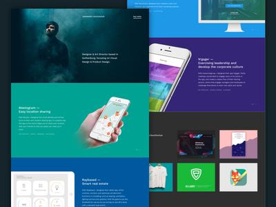 Portfolio landing homepage clean designer work smoke minimalism ui web landing page landing website portfolio