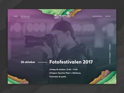 Photogether 2017 website göteborg sweden abstract grid typography averta festival photo card website
