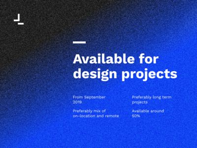 Available for design projects minimal hireme available minimalistic
