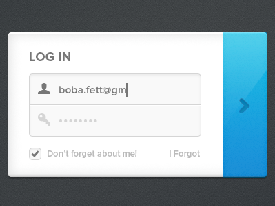 Simple Login log in sign in form ui simple button