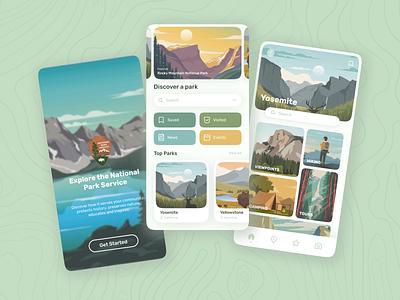National Park Service App Redesign mobile redesign ui app