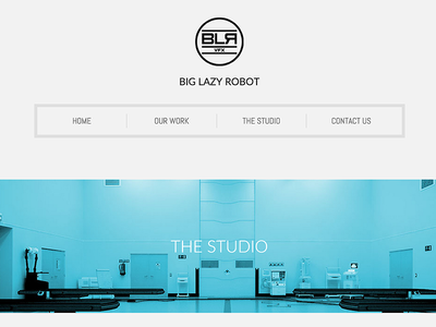 Big Lazy Robot website website responsive clean