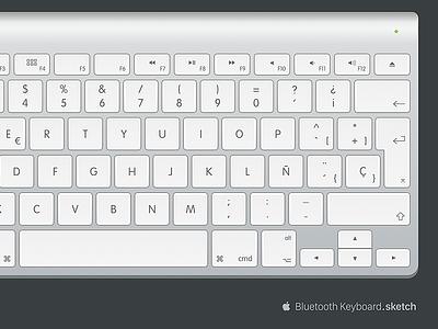 Apple Bluetooth Keyboard sketch freebie apple keyboard spanish bluetooth