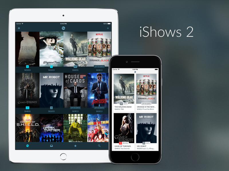 iShows 2 shows series tv app ios