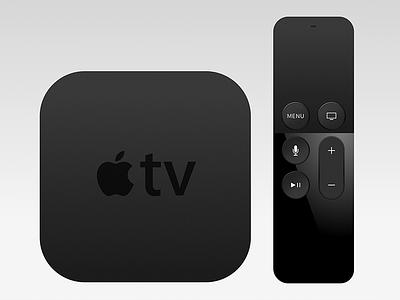 Apple Tv + Remote remote freebie sketch appletv