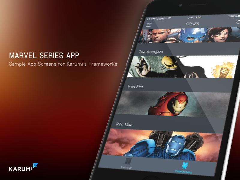 Marvel App app karumi ui android ios marvel