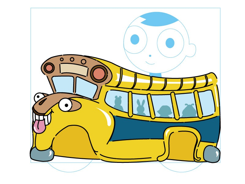 Crazy Bus Kart Design illustration pbskids kids fun games arthur characters