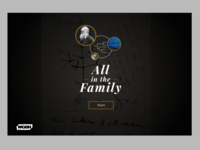 All In The Family Evolution Game landing screen