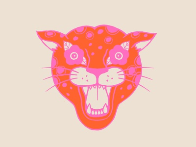 Neon Cheetah neon jungle wild cat cheetah icon illustration