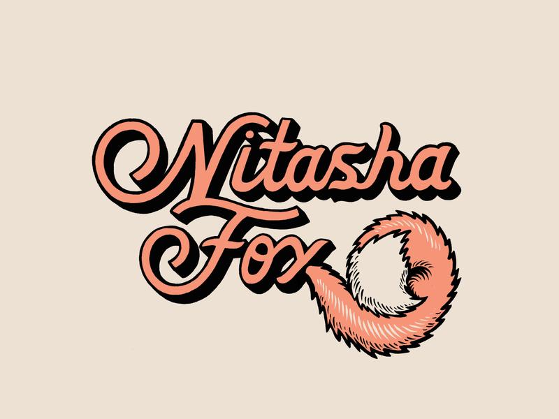 Fox Logo fox tail fox illustration typography hand lettering lettering identity photographer