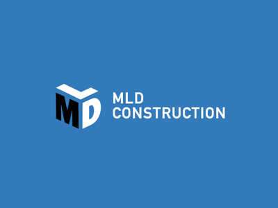 MLD Construction construction icon identity branding logo