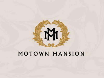 Motown Mansion detroit motown mansion identity branding logo