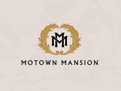 Motown Mansion detroit motown mansion identity branding logo