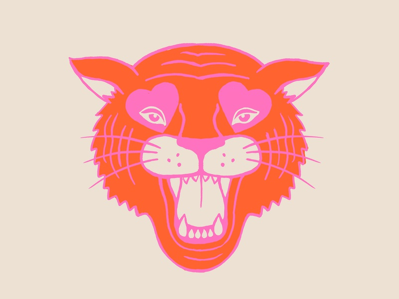 Neon Tiger neon illustration tiger
