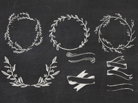 Laurels Wreaths & Banners