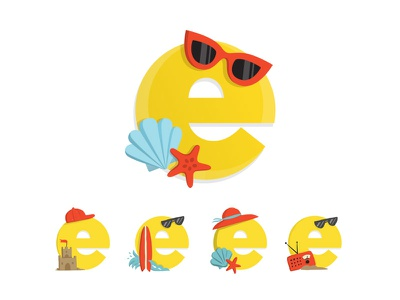Summer eCards Logo shell hallmark ecards ocean beach icon logo summer