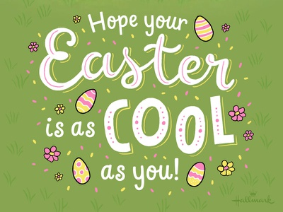 Cool Easter hallmarkecards hallmark cool easter typography type lettering