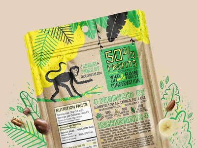 Go Nuts Packaging fruit jungle illustration nuts branding packaging