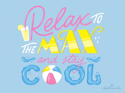 Stay Cool hallmark cool summer illustration type hand lettering lettering