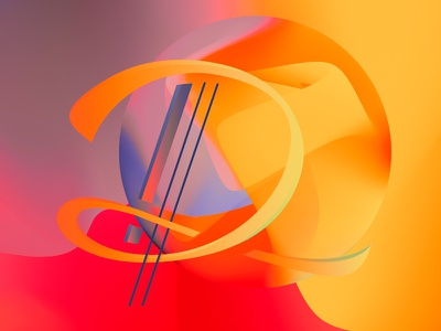 """Letter """"D"""" dora colorful typography abstract letter d"""