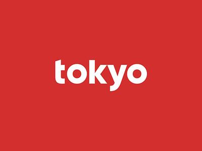 Tokyo logotype japan red logotype logo tokyo
