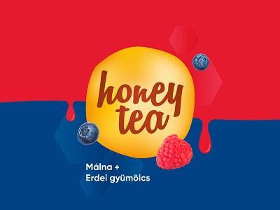 Honey Tea Berries label red blue berry berries honey tea tea honey