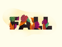Fall typography illustration