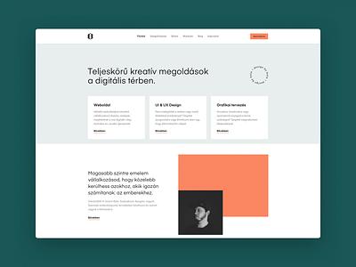 Personal website redesign minimal orange green sketch ui web design website web