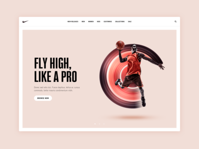 Nike hero image concept