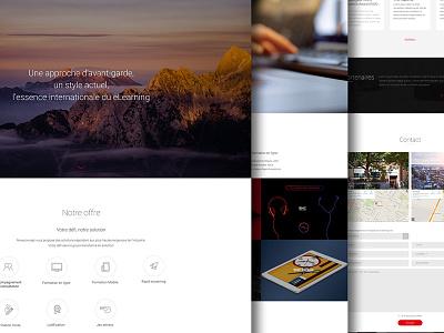 Corporate Website ui marketing layout minimalism corporate graphic website homepage icon button web design