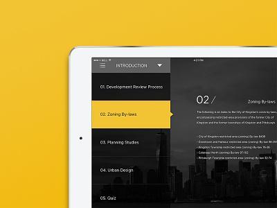 ui / 03 minimal app web design graphicdesign nav yellow interface city icon ux web ui