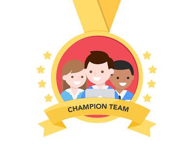 Champion Team (ノ≧∀≦)ノ character mockup vector web design ui champion financial cute icon illustration 2d