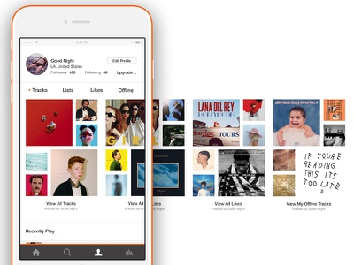 Soundcloud Redesign | Visual prototype wireframe music simple mockup app web graphic design product design visual ux ui