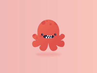 Bebe Octopus gradient video simple cute monster icon drawing vector design graphic design illustration character