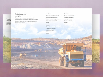 We work in mining web design wip homepage agriculture mining industry layout web ui