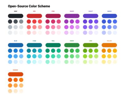 Open Source Color Schemes - for Figma & Adobe XD