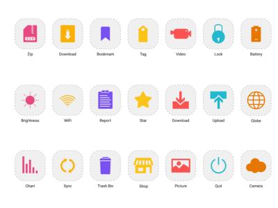 Basic Icons - [ Set 2 ] for Figma