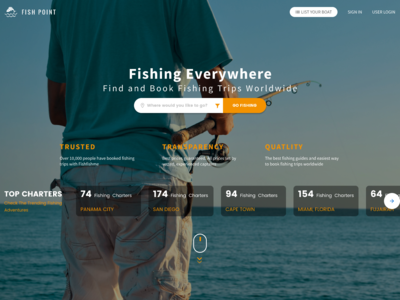 Fish Point | Landing Page Design Concept