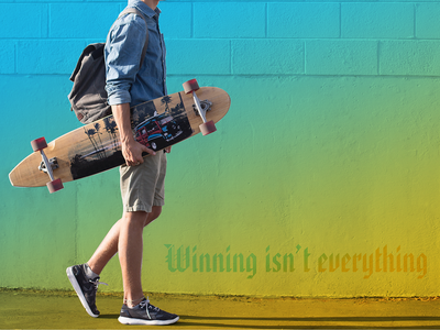 Skateboard - Winning isn't everything wallpaper design graphic design illustration graphics design sports
