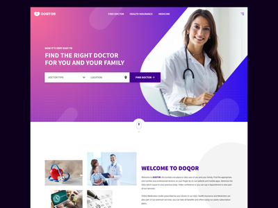 DOQTOR - Online Health Care Solutions uidesign figma ui design website design