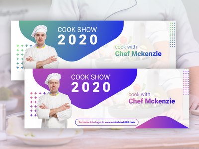 Cook Show 2020 - Banner Design banner design design vector illustration graphics branding figma